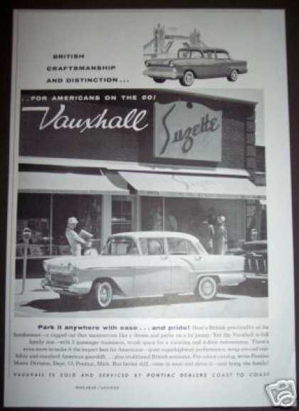 British Import Car Ad Vauxhall Suzette (1958)
