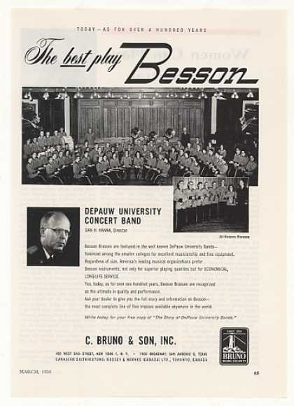 Depauw University Band Bruno Besson Brasses (1958)