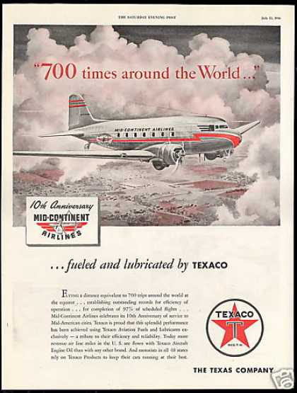 Mid Continent Airlines 10th Anniversary Texaco (1946)