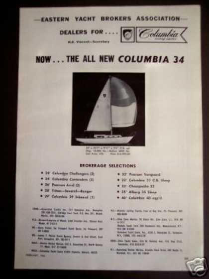 Columbia 34 Sailing Yacht Sailboat (1966)