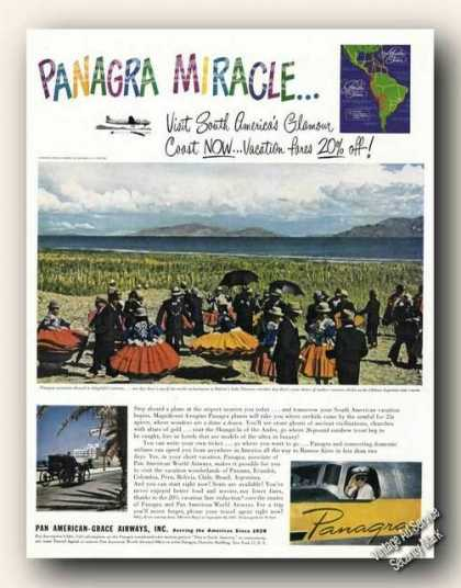 Bolivia Lake Titicaca Photo Panagra Travel (1947)