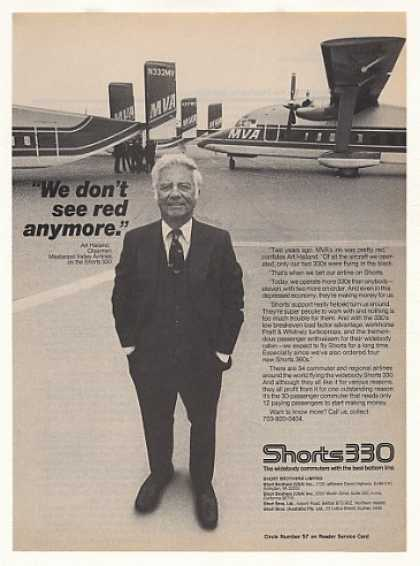 '82 MVA Mississippi Valley Airlines Shorts 330 Plane (1982)