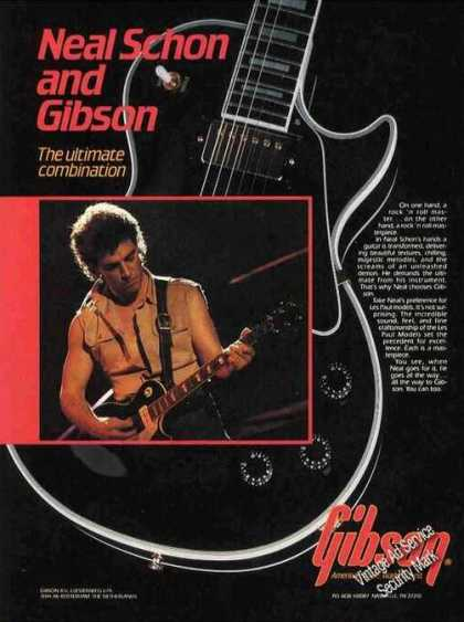 Neal Schon Photo Gibson Guitars (1985)