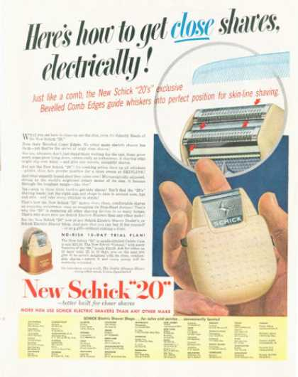 "Schick ""20"" Electric Shaver (1952)"