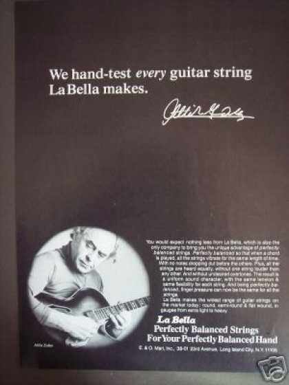 Attila Zoller Photo La Bella Guitar Strings (1978)