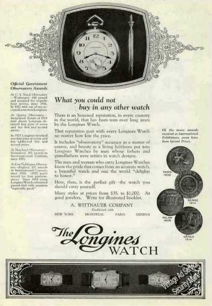 "The Longines Watch ""What You Could Not Buy"" (1924)"