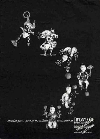 Acrobat Pins By Tiffany Collectible (1967)