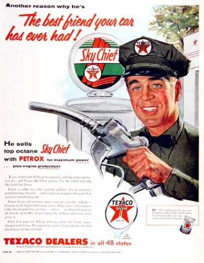 Texaco Sky Chief Gasoline #2 (1955)