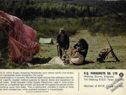G.q. Parachute Co Dropping Parachutes Uk Photo (1967)