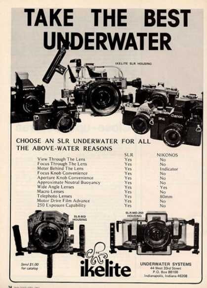 Ikelite Underwater Slr Camera Housing Ad T (1982)