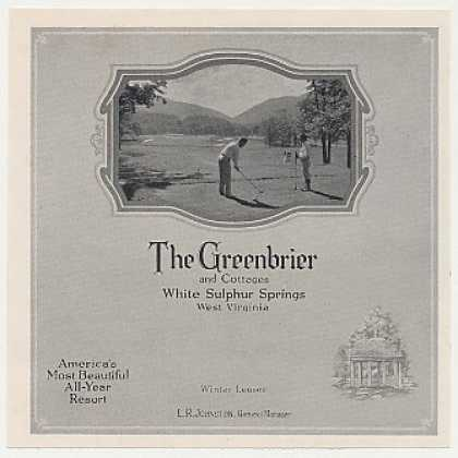 The Greenbrier White Sulphur Springs WV Golfing (1931)