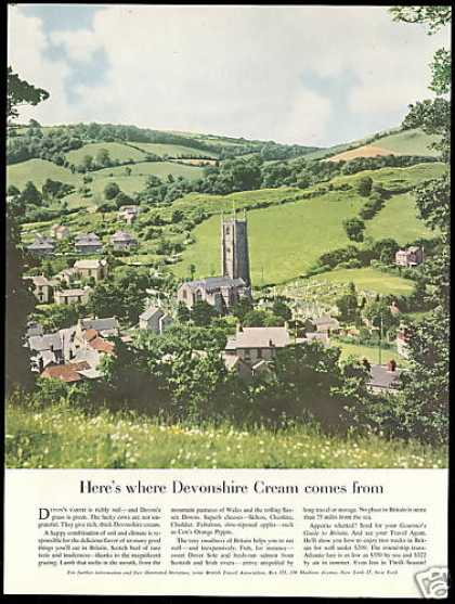 Britain UK Devon Photo Travel Devonshire Cream (1955)