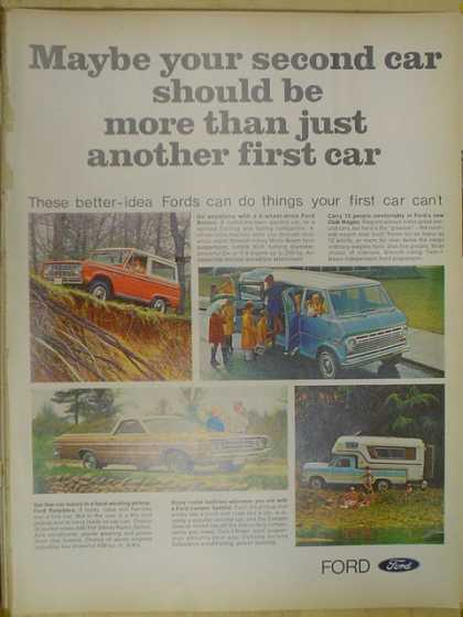 Ford trucks. Better idea Fords can do what your car can't (1968)