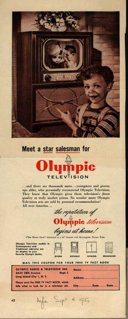 Olympic Radio & Television's various – Meet a star salesman for Olympic Television (1950)