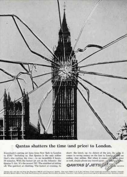 Qantas Shatters the Time (and Price) To London (1961)