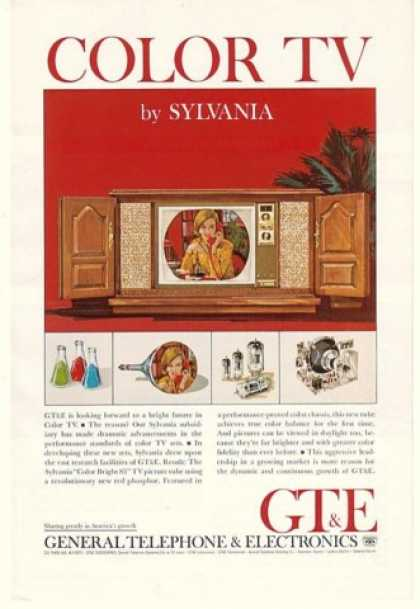 GT&E Sylvania Color Bright 85 TV Picture Tube (1964)