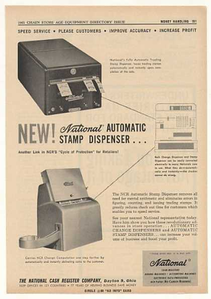 NCR National Cash Register Auto Stamp Dispenser (1961)