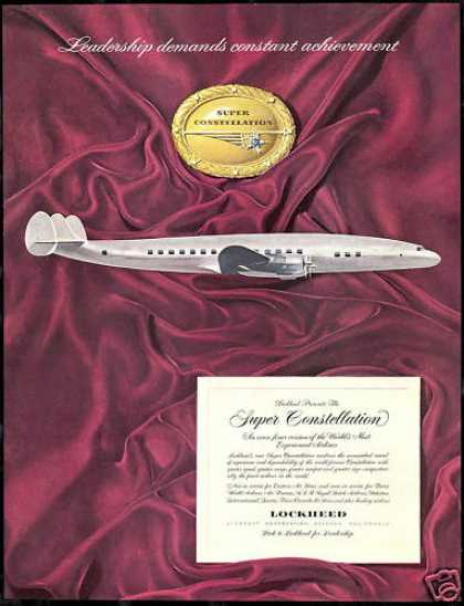Lockheed Super Constellation Vintage Airplane (1952)