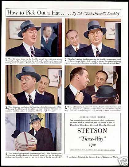 Stetson Three Way Hat Stamped Box Print Photo (1941)