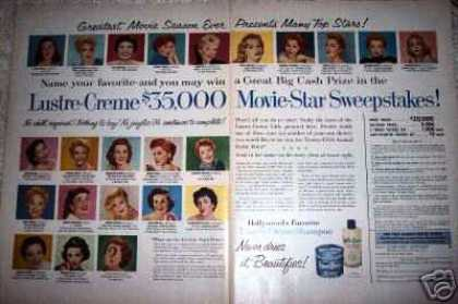 Movie Star Sweepstakes 20+ Liz Taylor (1956)
