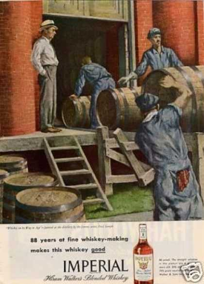 Imperial Whiskey Ad Paul Sample Art (1946)
