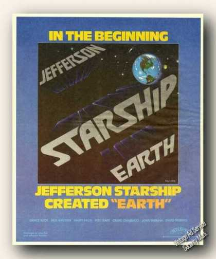 Jefferson Starship Album Promo Ad Music (1978)