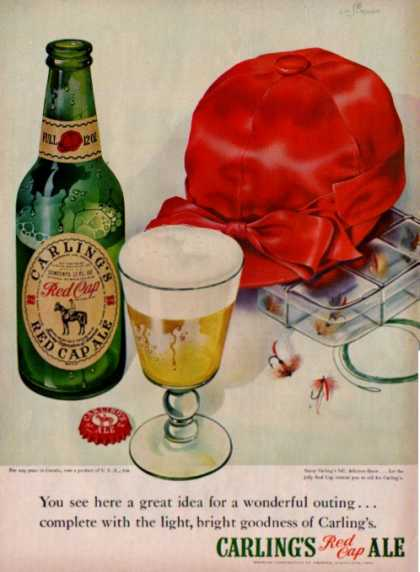 Carling's Red Cap Ale Fly Fishing (1949)