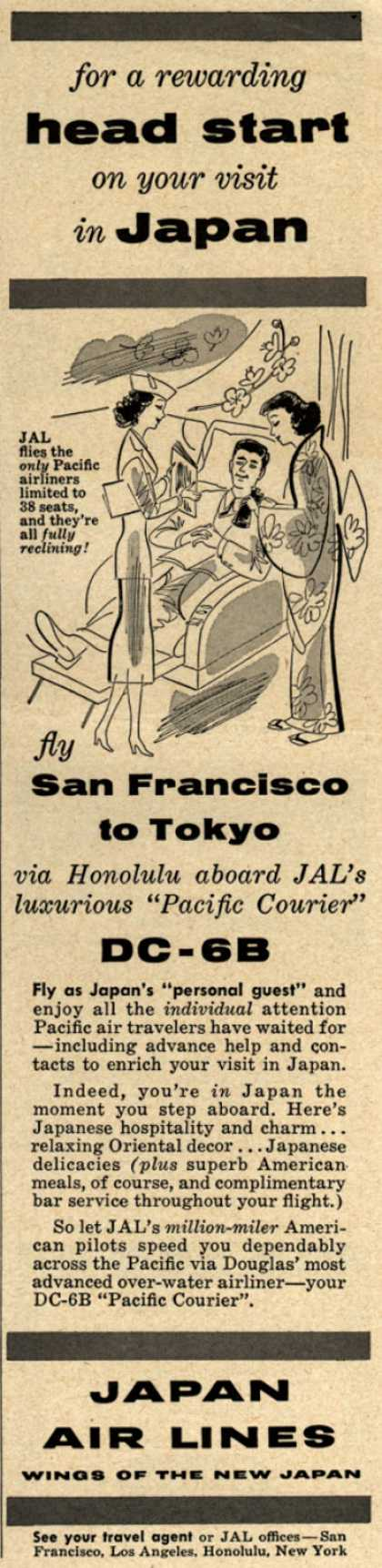 Japan Air Line's San Francisco to Tokyo – For a rewarding head start on your visit in Japan (1954)