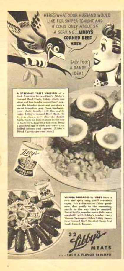 Libby's Corned Beef Hash – Vienna Sausages (1947)