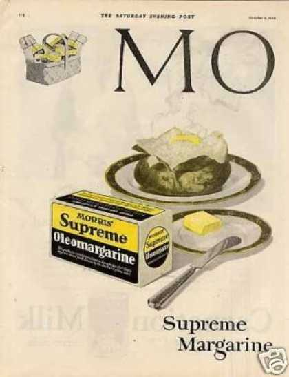 Morris & Company Oleomargerine Color Ad 2 Page (1920)