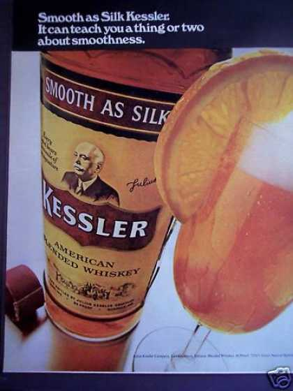 Silk Kessler American Whiskey W/ Orange Slice (1971)