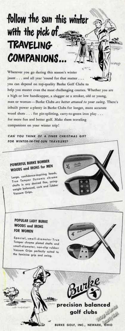 Burke Precision Balanced Golf Clubs (1949)