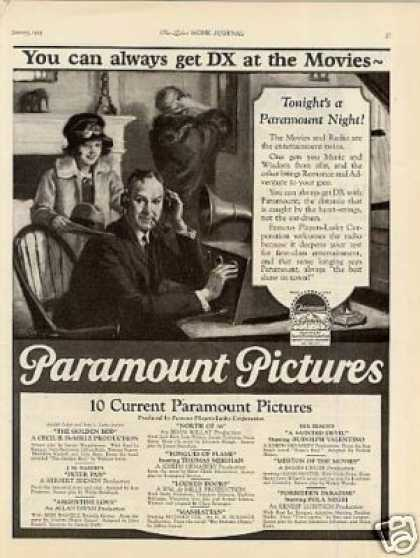 "Paramount Pictures Ad ""You Can Always Get... (1925)"
