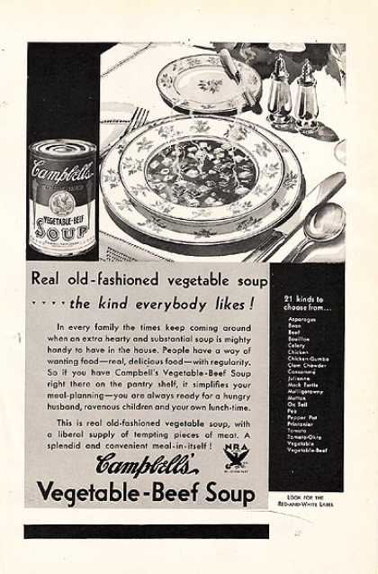 Campbell's Vegetable-Beef Soup (1934)