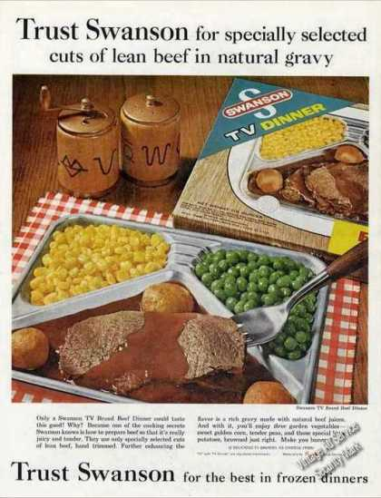 Swanson Frozen Dinners (beef) Photo Food (1962)