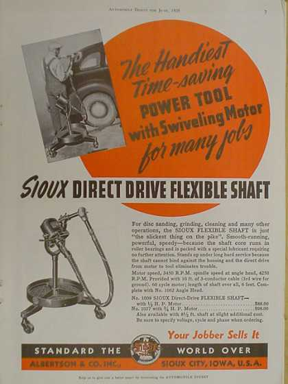 Sioux direct drive flexible shaft. Albertson and Company. (1939)