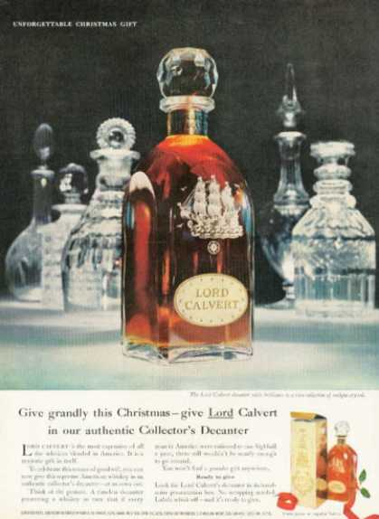 Lord Calvert Sailing Ship Collector Decanter (1958)