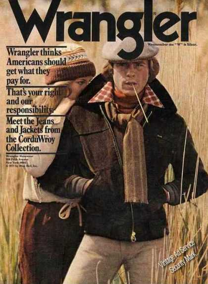 Wrangler Jeans and Jackets Corduwroy Collection (1977)
