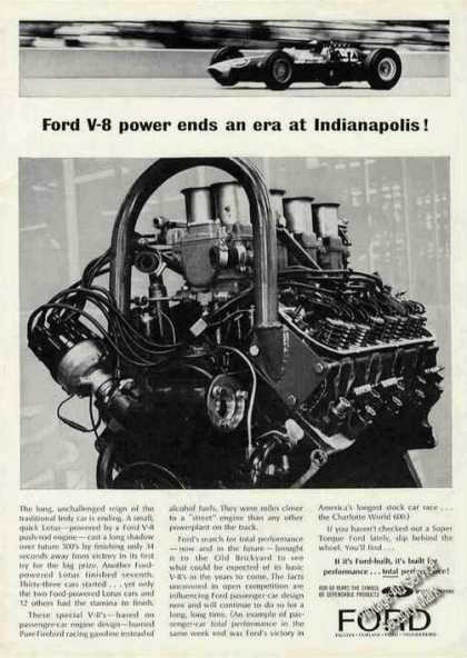 Ford V-8 Power Ends an Era at Indianapolis (1963)