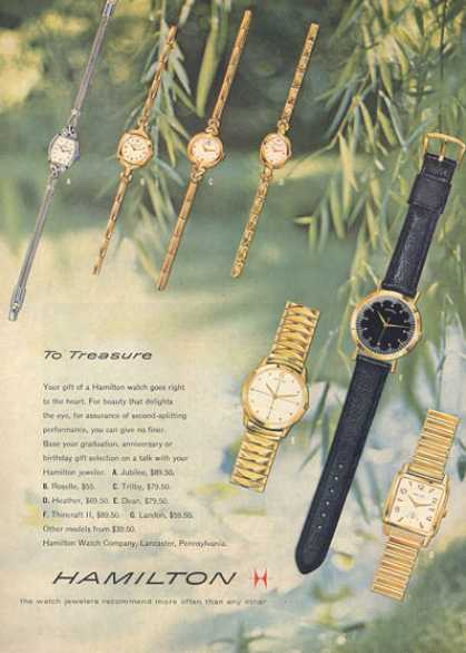 Hamilton Watch 7 Models (1957)