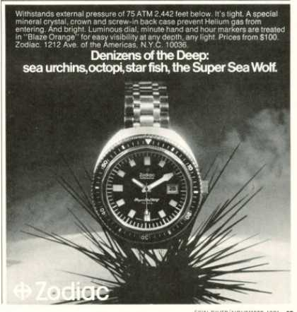 Zodiac Super Sea Wolf Dive Watch T (1971)