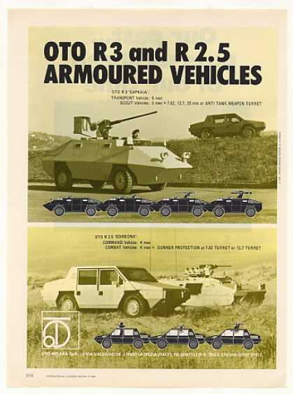 Oto Melara R 3 R 2.5 Armoured Vehicles (1986)
