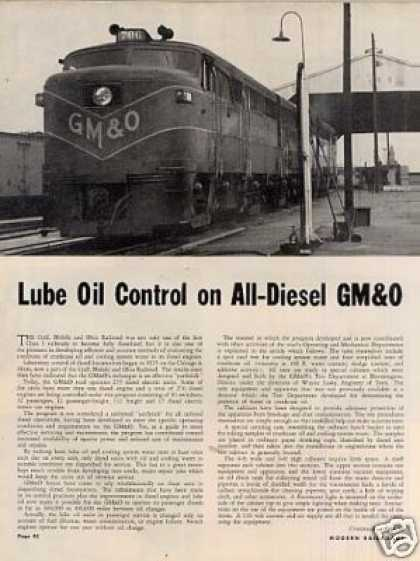 """Lube Oil Control On the All-diesel Gm&o"" Article (1950)"