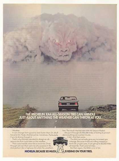 Michelin XA4 All-Season Tire Weather Monster (1984)