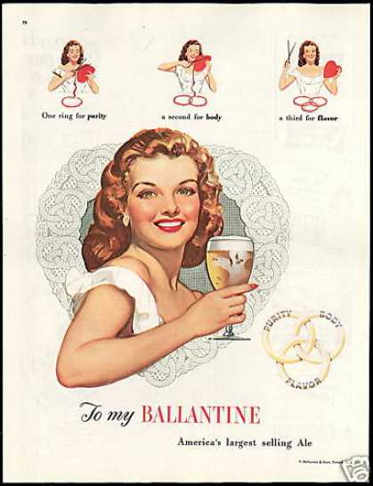 Ballantine Ale Pretty Woman Vintage (1948)