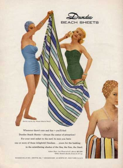 Rose Marie Reid Swimsuit Dundee Beach Sheet (1957)