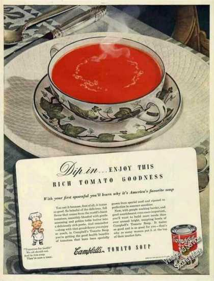 Campbell's Tomato Soup Large (1943)
