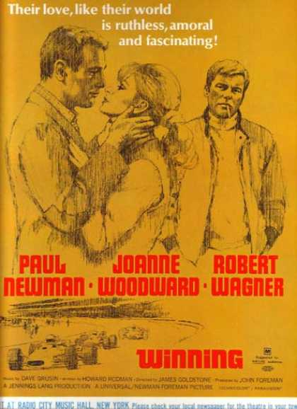 Winning (Paul Newman, Joanne Woodward and Robert Wagner) (1969)