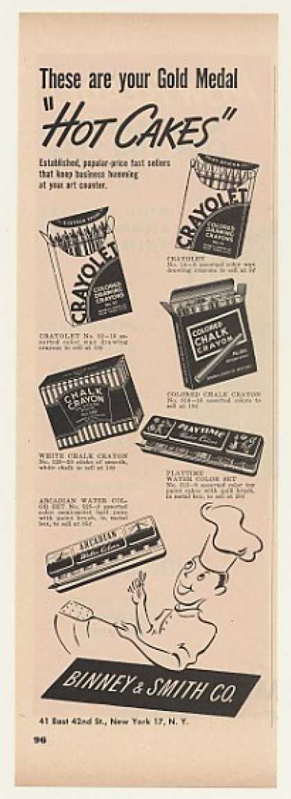 Binney &amp; Smith Crayolet Chalk Crayons Trade (1948)