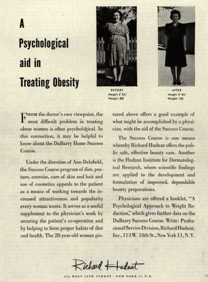 Richard Hudnut's DuBarry Home Success Course – A Psychological aid in Treating Obesity (1945)